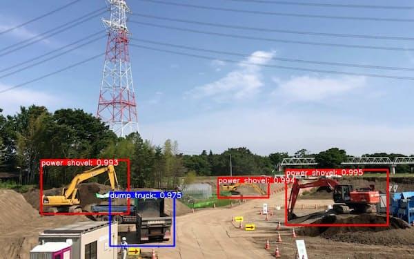 オプティムはカメラの画像から建機の適切な配置を決める