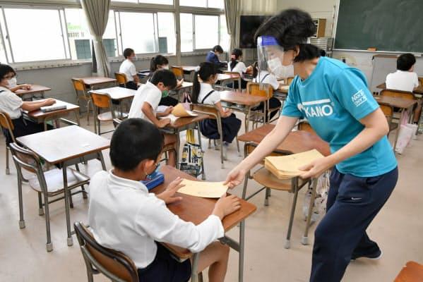 大阪の小中学校が分散登校(概ね3時間授業)で再開しました