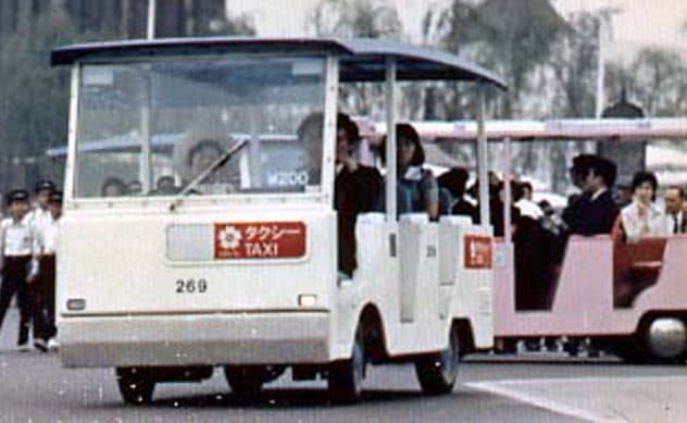 ダイハツのEVは会場内を巡るタクシーなどで活躍