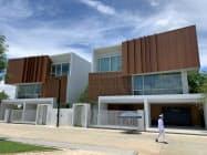 タイの不動産開発会社エンリッチと西部ガスが建設したモデルハウス(1日、バンコク)