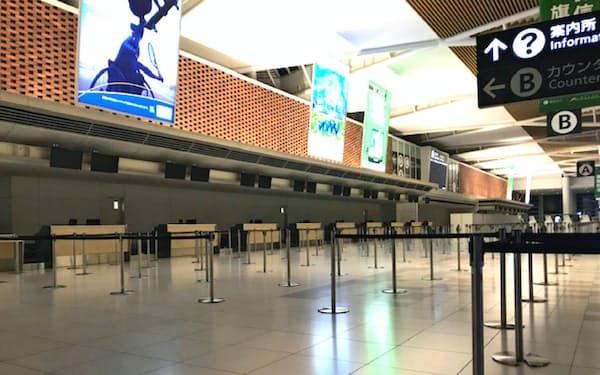 新千歳空港は3月に国際線の発着便がゼロになった