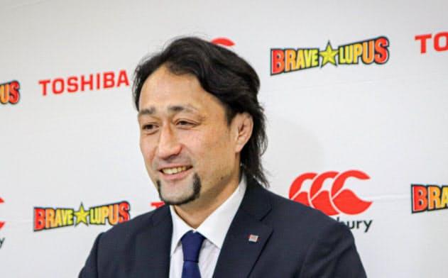 インターネットで引退会見を開いたラグビー元日本代表の大野均さん(東芝提供)