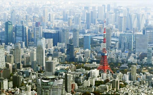 新型コロナウイルスの感染拡大は都市のあり方も変える可能性がある(東京都心のビル群)