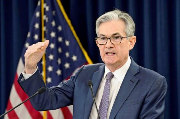 パウエルFRB議長はマイナス金利政策に対し、「有用でも適切でもない」という姿勢をとっている(3月の記者会見で)=ロイター