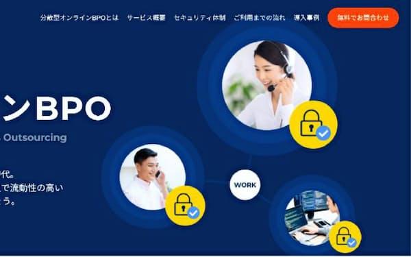 ランサーズの新サービス「オンラインBPOセンター」のサービス画面