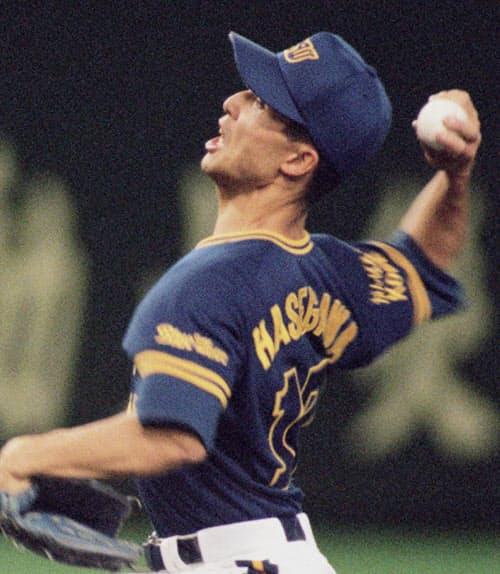 オリックス時代の1995年、12勝を挙げリーグ優勝に貢献した