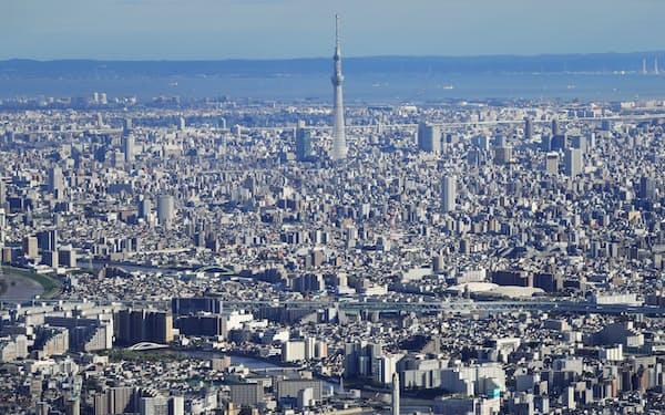 東京スカイツリーと都心の街並み