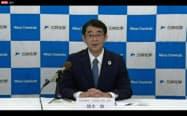経営概況を説明する三井化学の橋本修社長