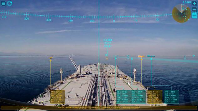 ARで他船との距離など、航海に必要な情報を可視化する