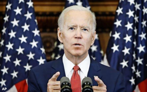 民主党のバイデン前副大統領は結束を呼びかけた=AP