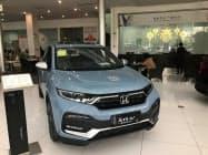 ホンダの5月の中国販売は「XR―V」など6車種で売れ筋の目安とされる1万台を超えた(広東省広州市の販売店)