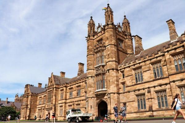 豪大学は学生の約3割が留学生だ(2月、シドニー大学)