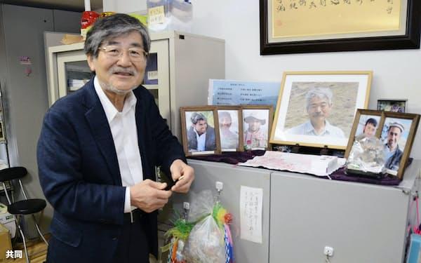 「中村哲先生の存在を感じながら事業を進めていく」と、決意を語るペシャワール会の村上優会長(5月16日、福岡市)