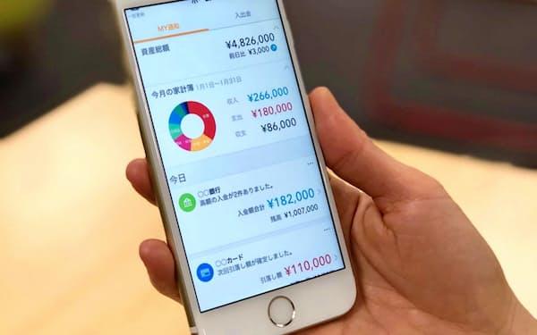 家計簿アプリなど個人向けサービスのテコ入れを図る
