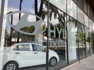 現在も自動車販売店は閉じている(メキシコシティの現代自動車の販売店)