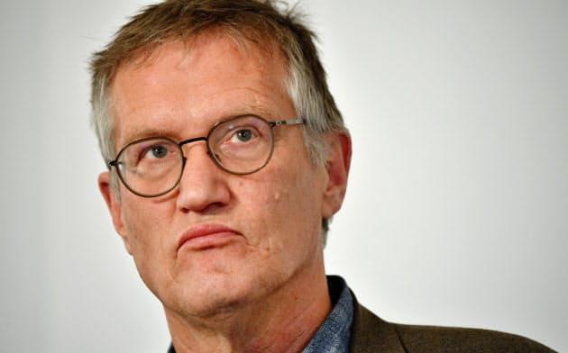 スウェーデンのコロナ対策を率いる疫学者のアンデシュ・テグネル氏=ロイター