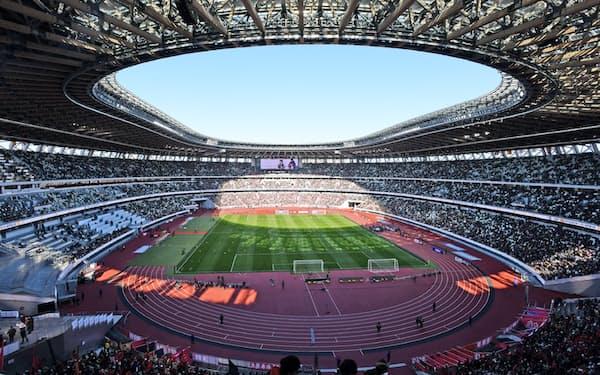 東京五輪・パラリンピックのメーン会場となる国立競技場(東京都新宿区)