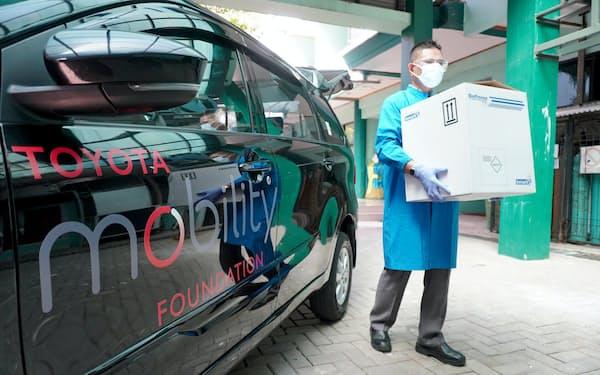 トヨタ・モビリティ基金はインドネシアで新型コロナウイルスの検体輸送を支援する