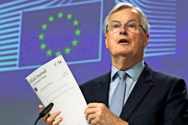 バルニエ首席交渉官は、英との交渉の延長の議論を歓迎する姿勢を示した(ロイター)