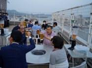 例年より約1カ月遅れでオープンした松江ニューアーバンホテルのビアガーデン