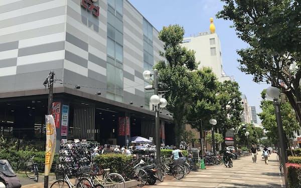 閉店に先立ちセールを始めた(8日、横浜市)
