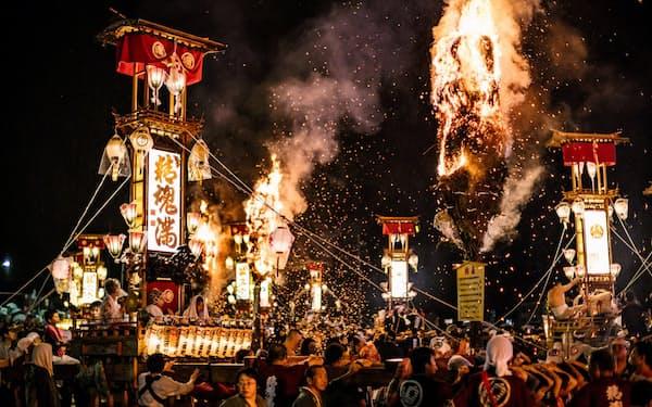 「あばれ祭」は約350年の歴史で初めての中止という(石川県能登町)