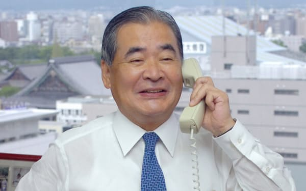 立石義雄氏はオムロンの持続的成長の土台を築いた(写真は2005年9月)