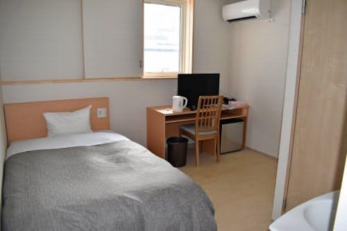 21室はビジネス客向けのシングルルームに改装(山形県上山市)
