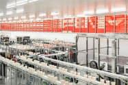 生産を効率化しCO2の削減を進める日清食品の関西工場(滋賀県栗東市)