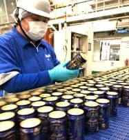 アサヒビールは「ザ・リッチ」の販売目標を当初計画の2倍に引き上げた(四国工場)