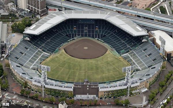 「2020年甲子園高校野球交流試合(仮称)」の開催が決まった甲子園球場(10日、兵庫県西宮市)=共同