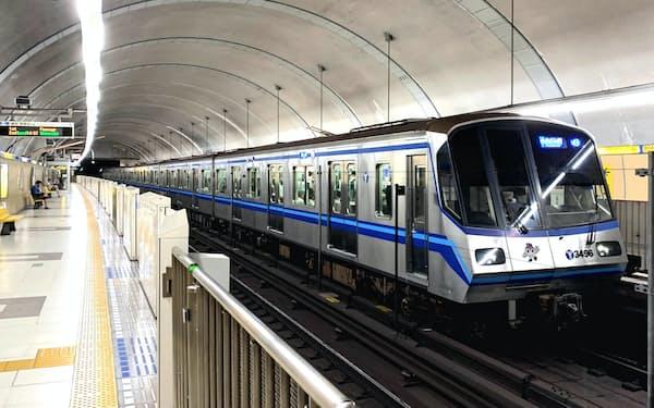 横浜市営地下鉄は川崎市への延伸を計画しているが、コロナで経営は厳しさを増している(横浜市)