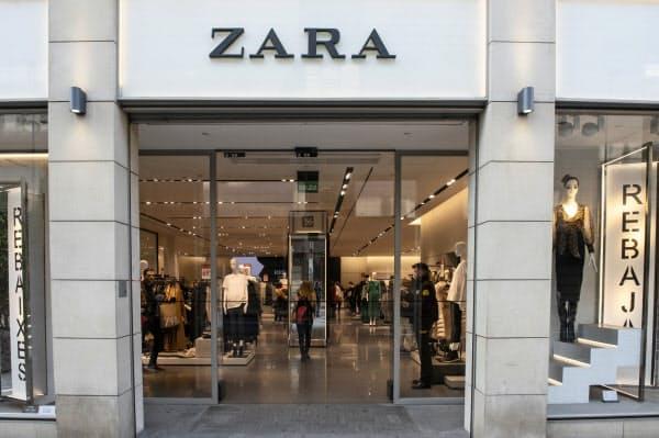 世界で2100店以上ある主力ブランド「ZARA」の一部店舗も閉める=AP
