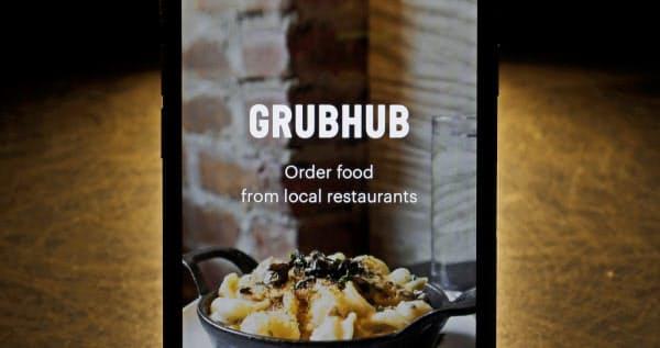 グラブハブは米国の料理宅配サービス市場でドアダッシュに次ぐシェアを持つ=AP