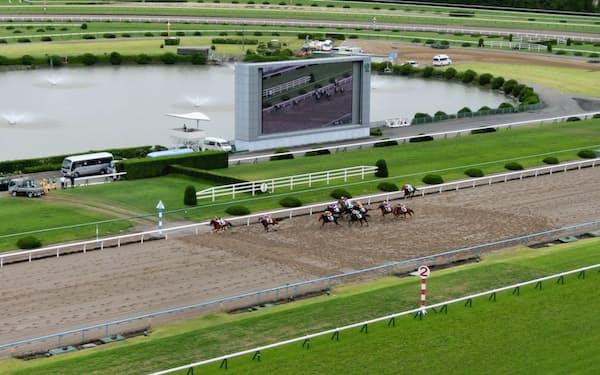 降級廃止後は1勝クラスなど下級条件のレースのレベル低下が目立つ(5月31日の京都競馬場)