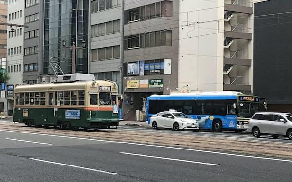 都市部の地域公共交通は利用者の回復は鈍い(広島市内)