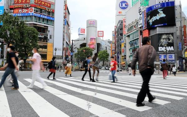 新型コロナウイルスは経済面に深刻な影響をもたらした(東京都渋谷区)