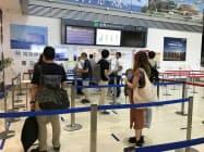 再開した福岡便には88人の利用客が搭乗した