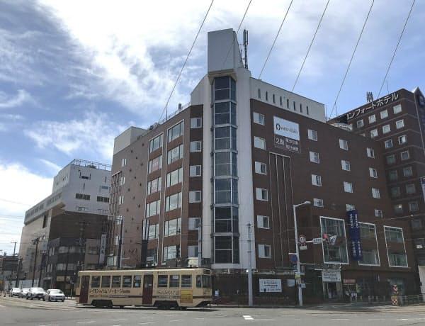 函館駅前にある旧棒二森屋のビルは2020年代半ばにかけて再開発される(北海道函館市)