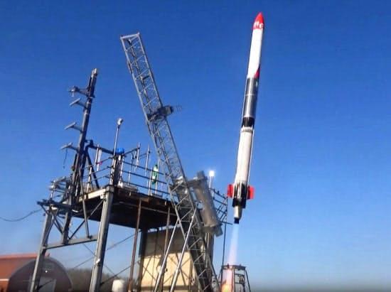 インターステラテクノロジズは延期となっていた「モモ」5号機の打ち上げを13日午前11時に実施すると発表した(写真はモモ3号機)