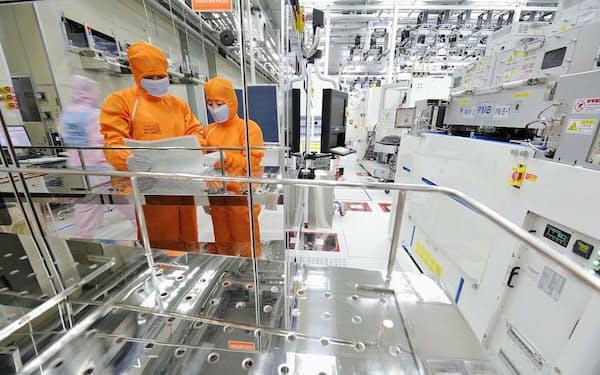 SKハイニックスは半導体メモリーで世界2位(韓国内の同社工場)