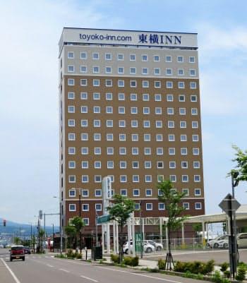 北海道新幹線の新函館北斗駅前に開業した東横イン