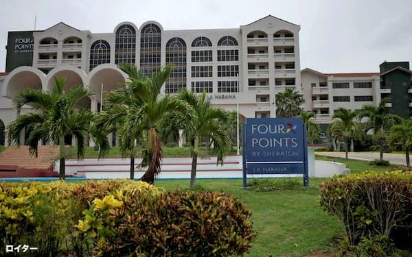 「フォーポインツ・バイ・シェラトン」は国交回復の象徴的な存在(5日、ハバナ)=ロイター