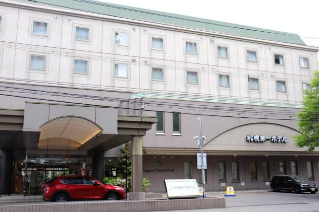 閉館を決断したホテルも出てきた(札幌市内)