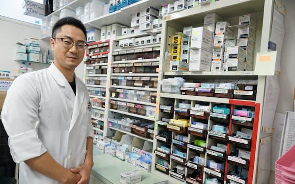 メディシスのサービスを導入して在庫管理が効率的になった(本通調剤薬局の角田副社長、札幌市)