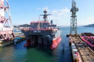 三井E&Sホールディングスは特殊な艦艇に強みを持つ(岡山県玉野市の工場)
