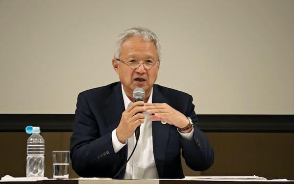 感染症対策について国家レベルでの危機管理の重要性を指摘した(製薬協の中山会長)