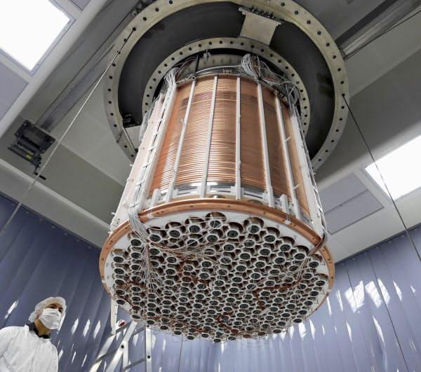 「暗黒物質」探索のための実験装置=イタリアのグランサッソ国立研究所(東大など提供)=共同