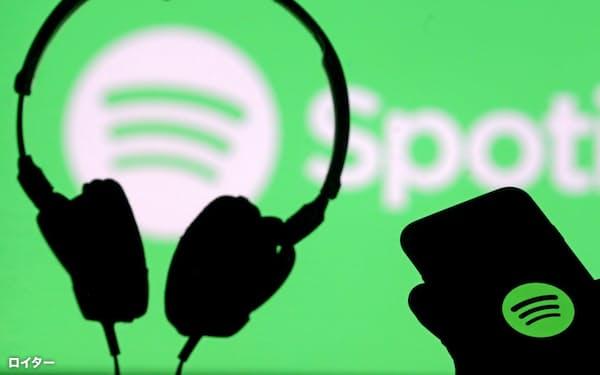 音楽配信スポティファイ・テクノロジーのロゴ=ロイター