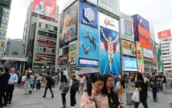 大阪・ミナミの道頓堀